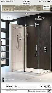 Two Sided Glass Shower Doors with Chrome