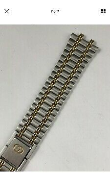New Old Stock Authentic Gucci 9000M Gold Steel Replacement Mens Watch (Stock Gucci)