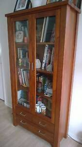 Timber bookcase or display cabinet Charlestown Lake Macquarie Area Preview