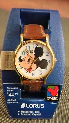 Mickey Eye Movement Animated Clock, Disney Lorus # RWQ012, Very Rare! NIB
