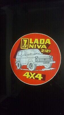 Vintage sticker autocollant Lada Niva 2121 4x4