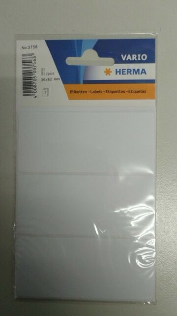 HERMA 3756 Sticker weiss 36x82 mm 21 Sticker