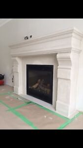 Stone mantels for gas and electric