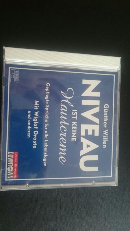 Günther Willen: NIVEAU ist keine Hautcreme CD