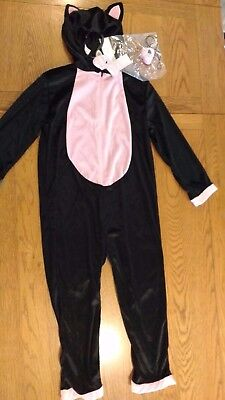BNWOT girls cat fancy dress up (Halloween World Book Day) 3-4yrs. Tesco. 1/11
