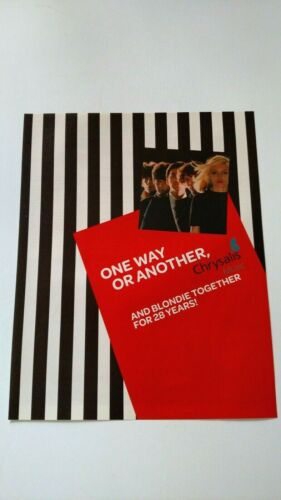 "BLONDIE ""ONE WAY OR ANOTHER"" 2006 RARE ORIGINAL PRINT PROMO POSTER AD"