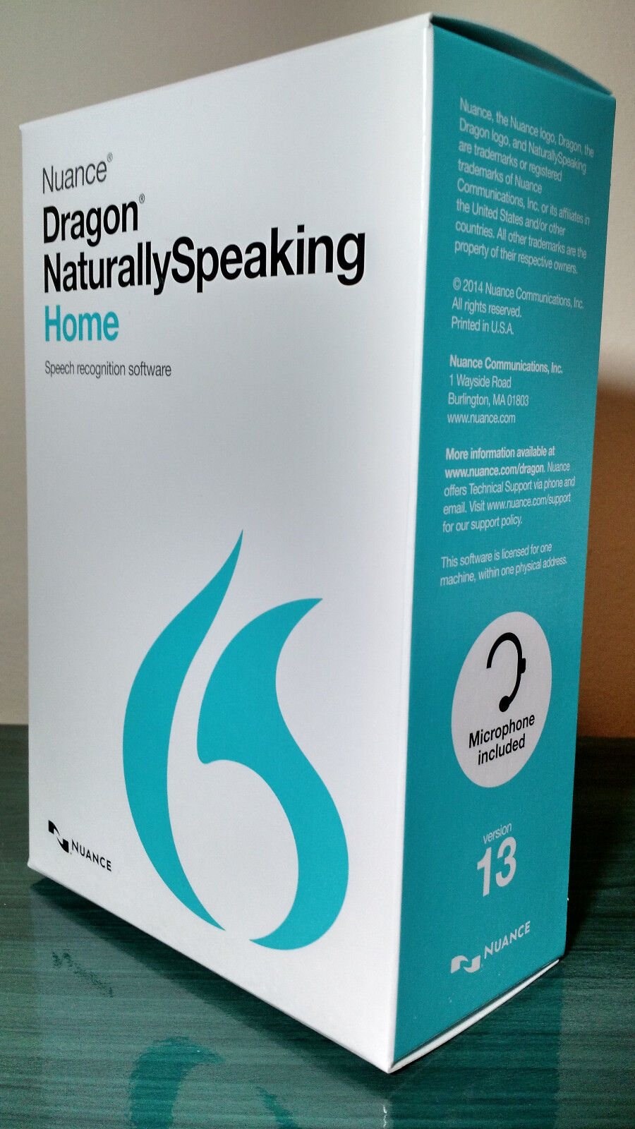 NUANCE Dragon Naturally Speaking 13 13.0 Home Speech Reco...