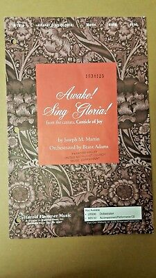 Lot of 10 Awake! Sing Gloria! - Canticle of Joy Martin Adams SATB Choral Octavo