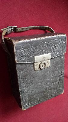 Antike Leder Tasche FürBoxkameras-. Leder Transporttasche