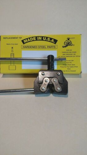Roller Chain Breaker Tool for #25 thru #60 Chain - USA