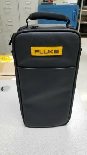 "RARE FLUKE LEATHER CASE 16""-8.5""-3"", ADJUSTABLE COMPARTMENT,STRAP"