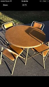 Folding Chairs and Table  Peterborough Peterborough Area image 1