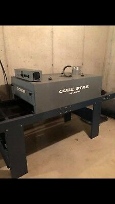 Printa 770 Screen Printing Press And Cure Star 4000 Conveyor Dryer