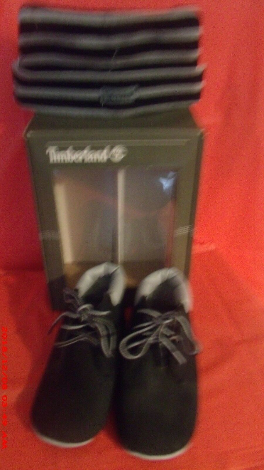 new Baby Timberland Crib With Hat Bootie Infant/ black size 2  boy/girl 1