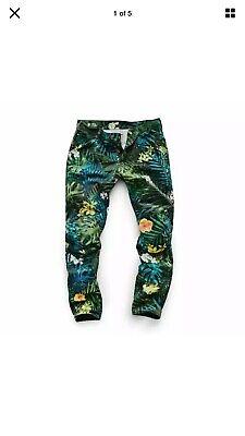 G-Star Raw Elwood X25 5622 3D Tapered Canvas Aloha Print Jeans Pharrell