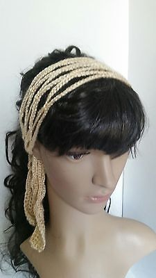 Handmade Crochet Headband Boho style Hair Accessories Hippie Chic woman girl