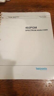 Tektronix 492pgm Spectrum Analyzer Programmers Manual