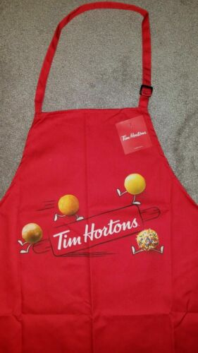 NEW Adult TIM HORTONS Coffee Cafe Full Size red TIMBITS APRON