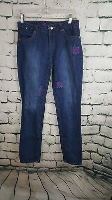 Girls Baby Phat Blue Jeans (size:16)