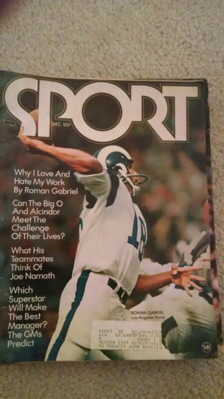 Sport Magazine December 1970, Vol. 50, No. 6