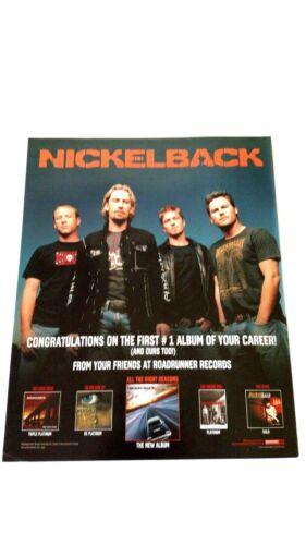 "NICKELBACK  ""ALL THE RIGHT REASONS"" 2005 RARE ORIGINAL PRINT PROMO POSTER AD"