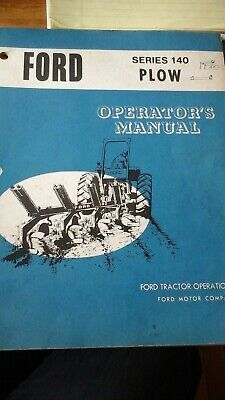 Ford Operator Manual Series 140 Plow Genuine Paperback