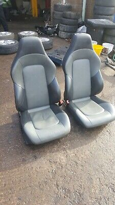CHRYSLER CROSSFIRE PAIR OF GREY LEATHER SEATS