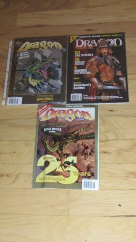 Dragon Magazine Back issues 22# to 355# free shipping TSR