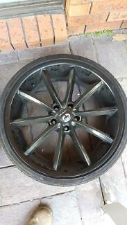 20inch black wheels Morisset Lake Macquarie Area Preview