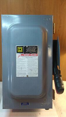 Square D Hu362a Safety Switch 60a 3 Pole