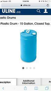 Wanted to buy 15 gallon barrel