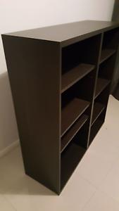 Modern bookshelf - chocolate timber grain finish Bayswater Bayswater Area Preview