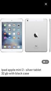 Mini 2 apple ipad tablet with case 32g silver white