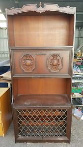 Tall liqour cabinet vintage bar cupboard wime storage Glen Iris Boroondara Area Preview