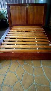 Queen Size Timber Bed Frame St Andrews Campbelltown Area Preview