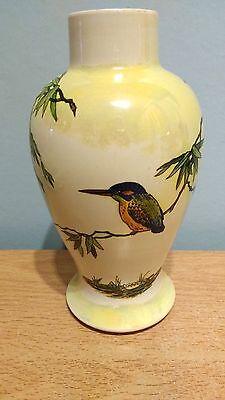 Wiltshaw & Robinson Carlton Ware16cm Lustre Vase Kingfisher Pattern #2537 1921-5