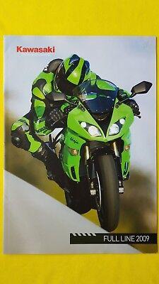 Kawasaki Ninja VN ER Z1000 Z750 ZZR1400 Versys KLX motorcycle brochure 2009 MINT