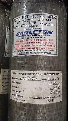Carleton 4500psi 60min Scba Carbon Fiber Cylinder Air Tank Mfr. Date 2001 6109