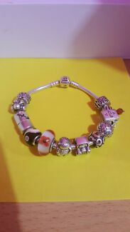 Pandora Bracelet 19cm and charms included Excellent condition Rosemeadow Campbelltown Area Preview