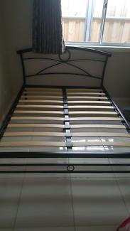 Bed frame & foam mattress