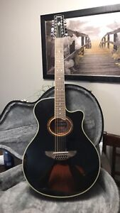 BRAND NEW SMALL BODY YAMAHA 12 STRING ACOUSTIC/ELECTRIC