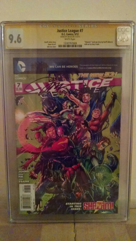 Justice League #7 CGC 9.6 AUTOGRAPHED by JIM LEE