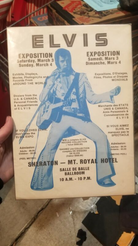 Scare Vintage Elvis Convention Show Promo Poster Exposition Canada Mt Royal...
