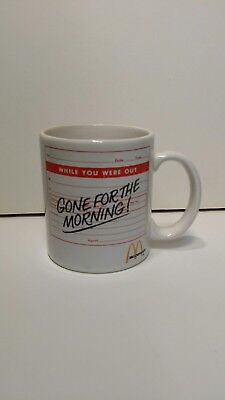 McDonald's cup.... Gone for the morning