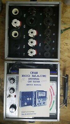 Vtg Early Sencore Cr 168 Big Mack Universal Crt Picture Tube Tester 1984 Pr