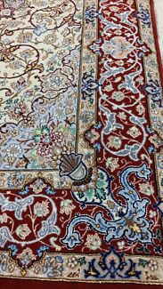 Esfahan Wool And Silk Carpet