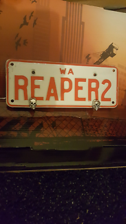 Motorcycle REAPER2 lic plates