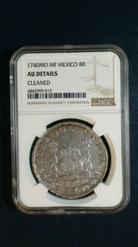 1740 MO MF Mexico 8 Reales NGC AU SILVER Coin PRICED TO SELL NOW!