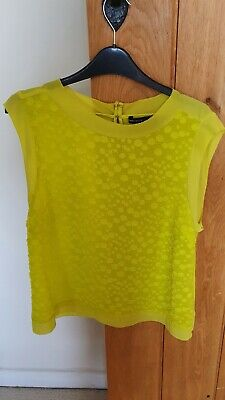 Karen Millen Yellow Top Size 16