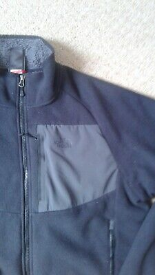 THE NORTH FACE Mens Black FULL ZIP thick Fleece Jacket Size Large